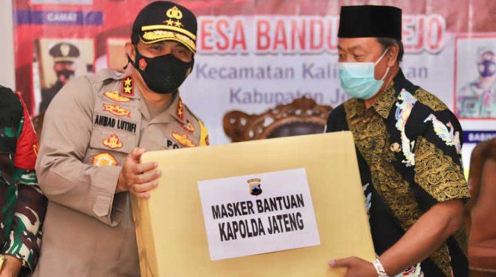 Kunjungan Kapolda Jateng Ahmad Luthfi cek pos PPKM Micro Demak dan Jepara